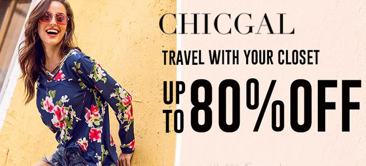 Travel With Your Closet! Take Up To 80% OFF on Women's Dresses at Chicgal.com, Shop Now!