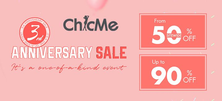 Anniversary Sale! From 50% OFF Sitewide, Up To 90% OFF on All Orders at Chicme.com, Hurry Now!
