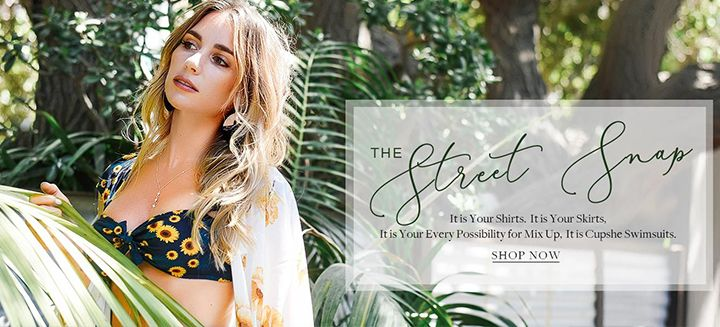 The Street Snap! It is Your Shirts, Skirts, It is Your Every Possibility for Mix Up, It is Cupshe Swimsuits!
