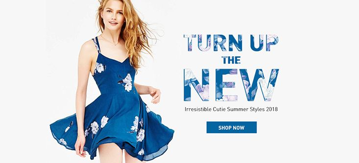 Turn Up The New Irresistible Cutie Summer Styles 2018, Get Coupon Codes at fairyseason.com