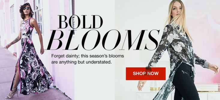 Bold Blooms! Forget Dainty; This Season's Blooms Are Anything But Understand. Shop Now At Macys.com