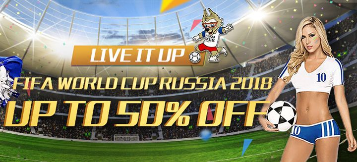Live It Up, Fifa World Cup Russia 2018! Save Up To 50% OFF on All Sporting Goods only at Milanoo