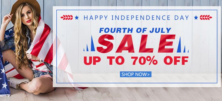 Happy Independence Day! Fourth of July SALE Up To 70% OFF, Shop Now at Milanoo.com