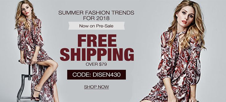Summer Fashion Trends For 2018! Get Free Shipping on Orders Over $79, Shop Now at milanoo.com