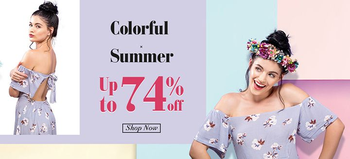 Colorful Summer! Avail Up To 74% Discount on Women's Clothing and Accessories at Newchic!