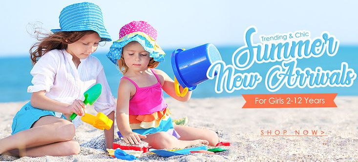 Summer New Arrivals! Trending and Chic For Girls 2 to 12 Years, Shop Now at Newchic.com