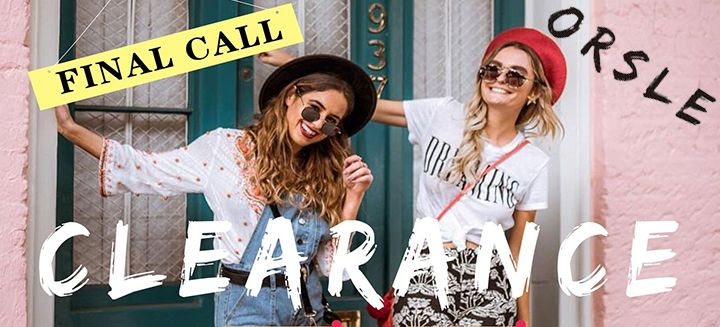 Clearance Sale! Final Call, Get Up To 60% OFF on Sale at ORSLE.com Shop Now!