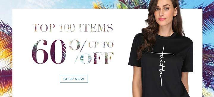 Top 100 Items! Get Up To 60% Off on Women's Clothing Sitewide, Shop Now at PinkClassy!