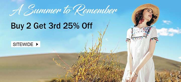 A Summer To Remember! Buy 2 and Get 3rd on 25% Off Sitewide, Shop Now at PopJulia