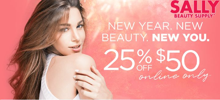 Get 25% OFF on ORder Over $50 Or Above at sallybeauty.com Start Saving With couponistic.com