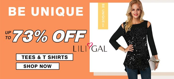 Save Up To 73% OFF + Free Shipping on Tees & T-Shirts at Liligal.com, Shop Now !