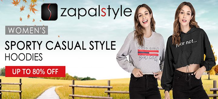 Get Up To 80% OFF on Women's Sporty Casual Style Hoodies at Zapalstyle.com, Hurry to Shop Now!